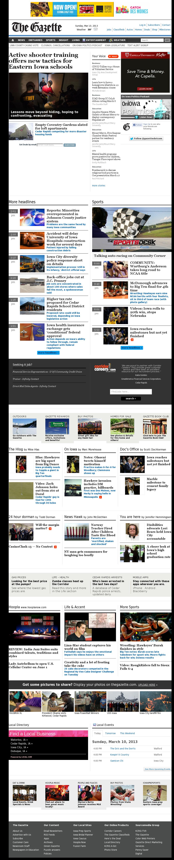 The (Cedar Rapids) Gazette at Sunday March 10, 2013, 11:06 a.m. UTC