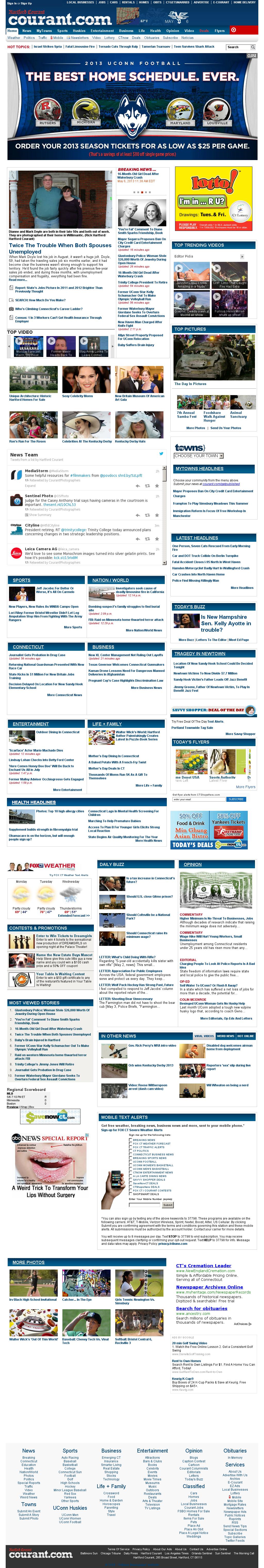 Hartford Courant at Monday May 6, 2013, 7:10 p.m. UTC
