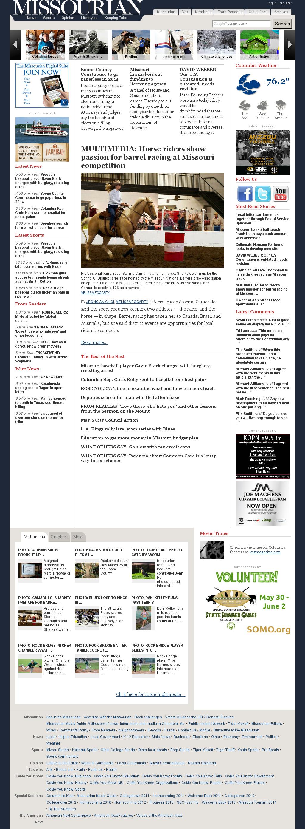 Columbia Missourian at Wednesday May 8, 2013, 12:06 a.m. UTC