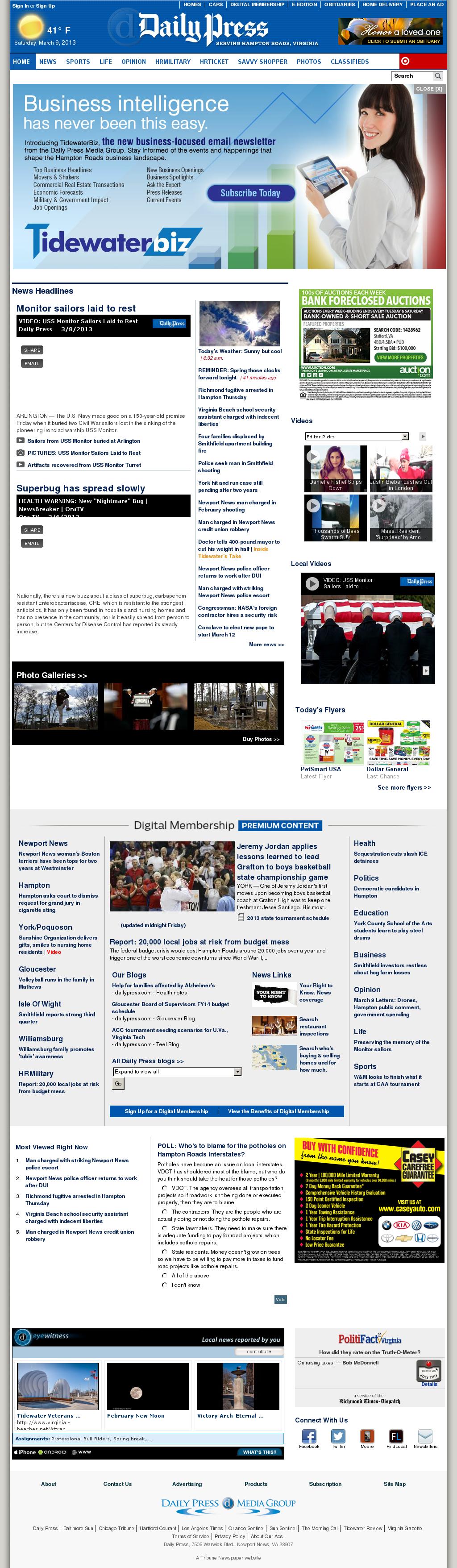 (Hampton Roads) Daily Press at Saturday March 9, 2013, 2:03 p.m. UTC