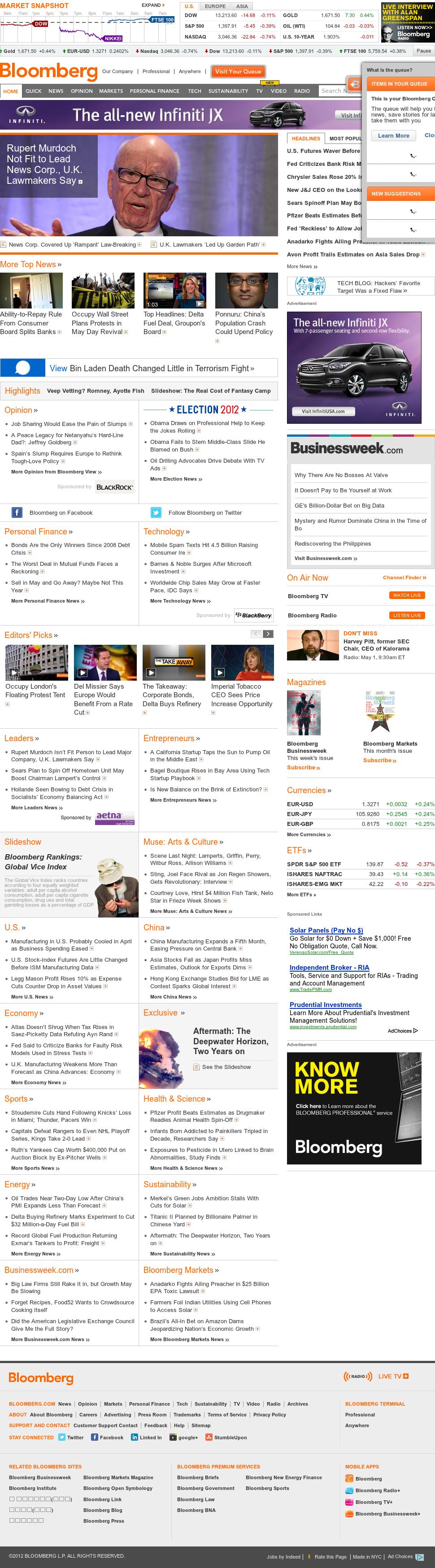 Bloomberg at Tuesday May 1, 2012, 1:01 p.m. UTC